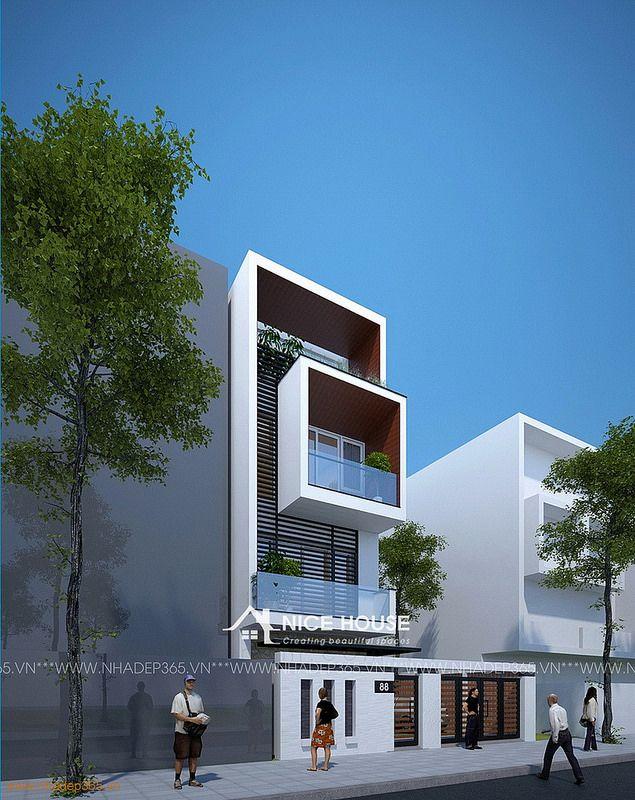 Thiết kế nhà phố diện tích 4,5x17m hiện đại