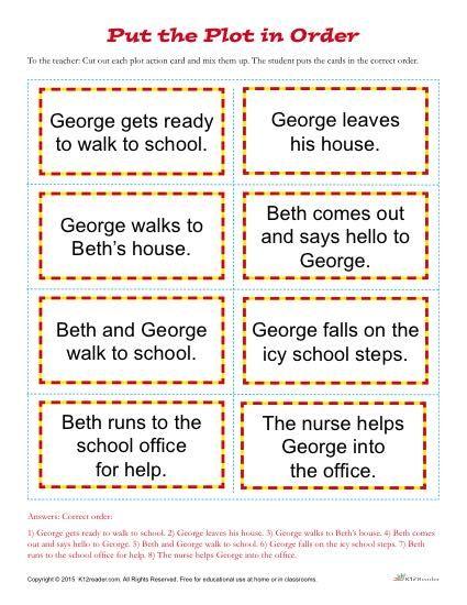 Put The Plot In Order Worksheet 2nd Grade Reading