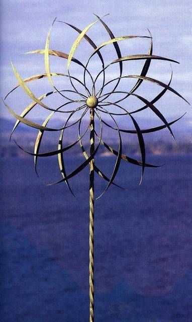 Pinwheel Kinetic Wind Sculpture Dual SPINNER Metal Garden Outdoor Pinwheel  87108 #AncientGraffiti