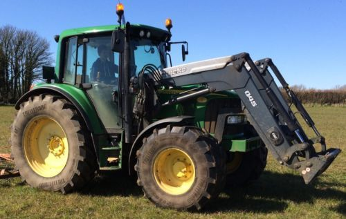 John #deere tractor 6420 with #quicke #loader,  View more on the LINK: 	http://www.zeppy.io/product/gb/2/252637960875/