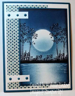 moonlight lake shimmer card by Michelle Zindorf
