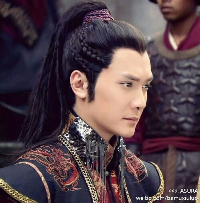 Chinese ancient fashion for males. Costumes.  Handsome Lan Ling Wang (William Feng). Chinese actors, models and entertainers from Hong Kong, Taiwan and China