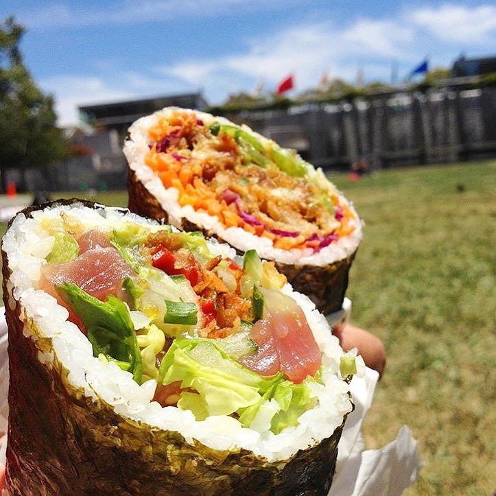 Dear San Francisco Do yourself a favor a get a sushi burrito delivered to you tomorrow with #UberEATS. As for @uber_nyc @uber_chi @uber_dc time is ticking  to grab one RIGHT NOW. Use FITAEATS for $10 off first order! #foodintheair #uber #maytheodds #beeverinyourfavor #sushiburrito : @wheninsf by foodintheair