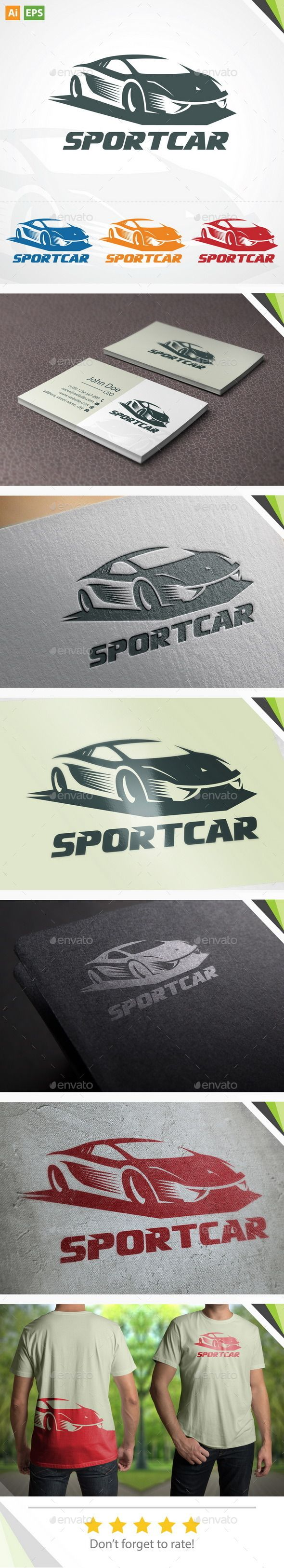Sport Car Logo — Vector EPS #design #car • Available here → https://graphicriver.net/item/sport-car-logo/11309504?ref=pxcr