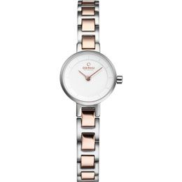 OBAKU Let - peach // rose gold and stainless steel watch