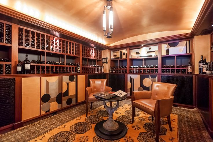 San Francisco 2015 Designer Showhouse: The wine cellar was designed by artist Jane Richardson Mack.
