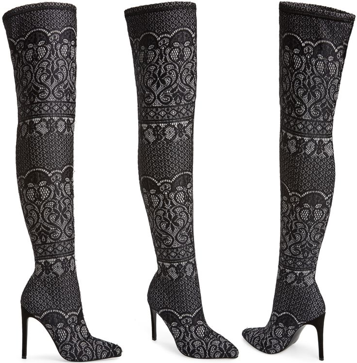 This pointed-toe Steve Madden 'Tiffy' sock boot that goes all the way