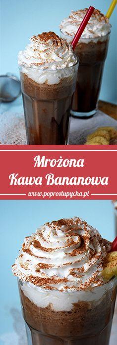 Mrożona kawa bananowa <3 Niesamowicie prosta, a jaka pyszna i relaksująca po ciężkim dniu! http://poprostupycha.com.pl/mrozona-kawa-bananowa/ #poprostupycha #kawa #banany