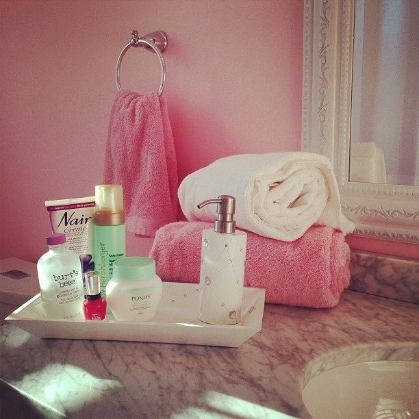 Girly♡ Bathroom Inspo♡  A Holder For Soap, Toothbrush, Toothpaste, Face  Lotion, Face Wash