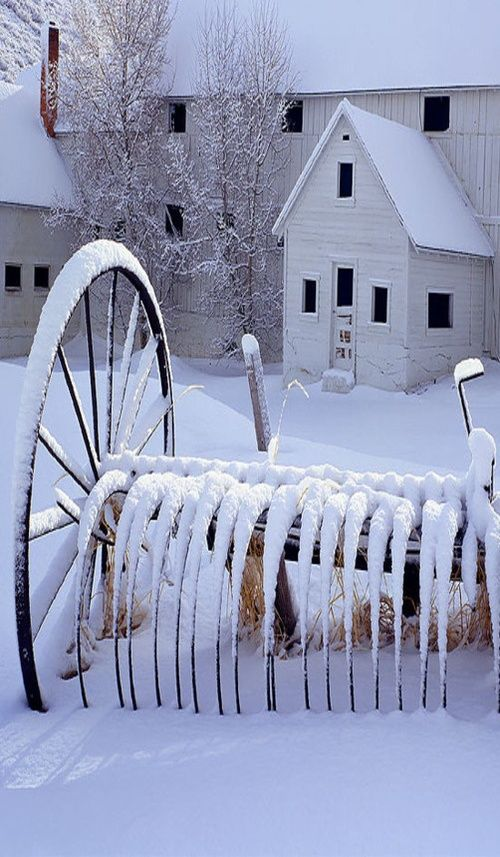 White Barn With Snow | Amazing Pictures - Amazing Pictures, Images, Photography from Travels All Aronud the World