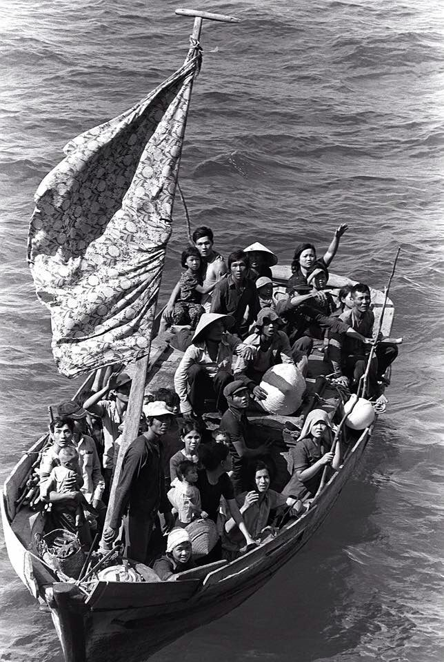 Vietnamese refugees arriving in the UK 1984
