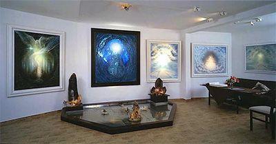 Tajemství stromů, 2009, olej s labradoritem, 30 x 25 - ZDENĚK HAJNÝ - Galerie Cesty ke světlu