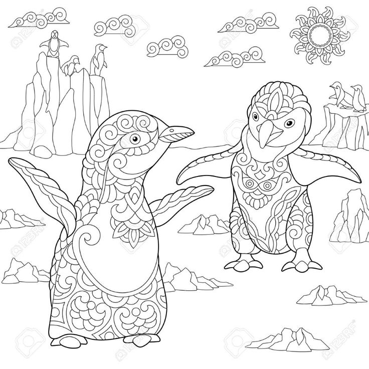 arctic coloring pages adult Google Search Penguin