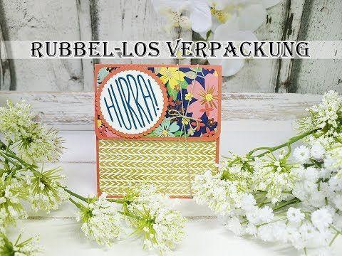 Rubbel-Los Verpackung mit Leinenfadenverschluss (Stampin'UP!) - YouTube