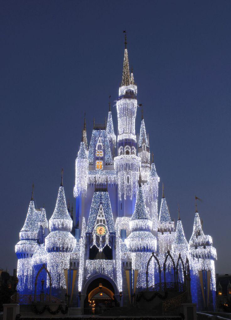 Walt Disney World, Orlando, Florida.: Walt Disney World, Christmas Time, Cinderella Castles, Disney World, Ice Castles, Magic Kingdom, Disney Castles, Places, Disney Worlds