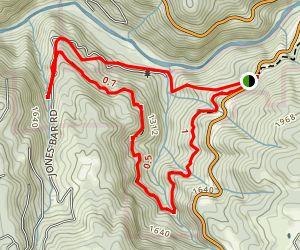 Jones Bar and West Trail Loop Map