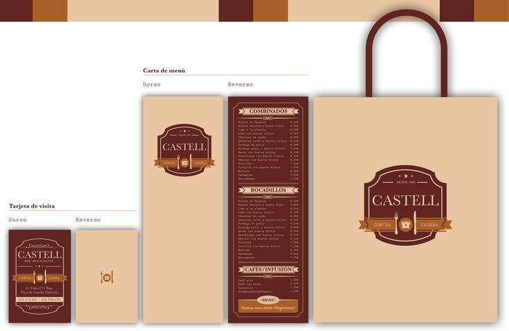 Identidad Corporativa Castell, corporate identity Castell