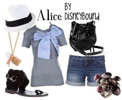 .: Alice In Wonderland, Disney Trips, Disney Outfit, Disney Inspiration Outfit, Disneybound, Disney Bound, Big Bows, Aliceinwonderland, Disney Fashion