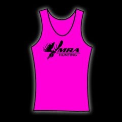 MRA Womens Hot Pink Tank    Shawn Michaels' MacMillan River Adventures Signature Women's Tank. Hot Pink with White MRA Hunting Logo on the front.