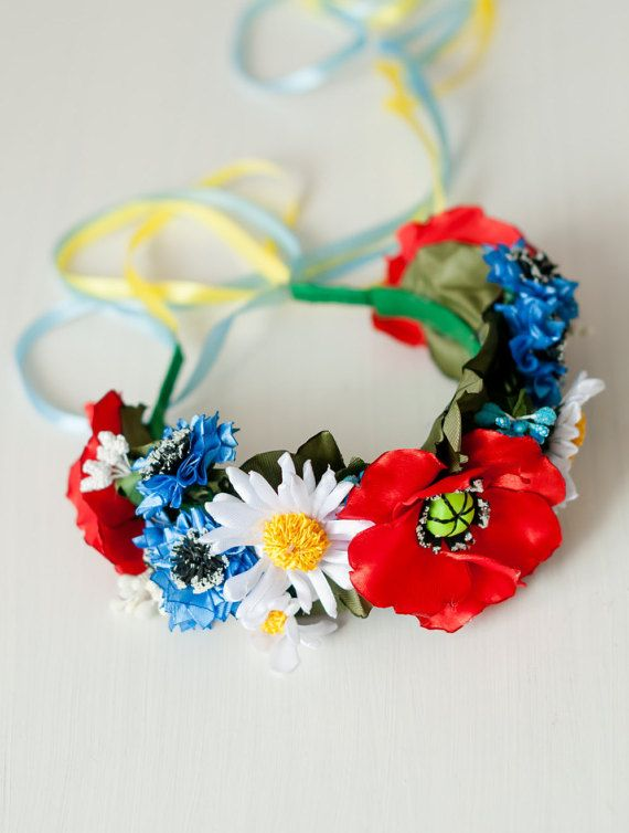 ukranian hairband | Ukrainian flower crown Ukraine national hair wreath Bride Ukrainian ...