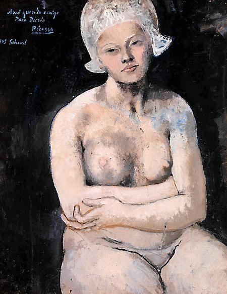 De voluptueuze Hollandse schone die Picasso als een Noord-Hollandse Mona Lisa met een raadselachtige glimlach om de mond naakt portretteerde.