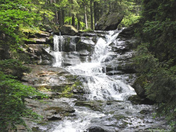 Wandern Rieslochwasserfälle Bodenmais Bayerischer Wald Wanderung Rieslochschlucht