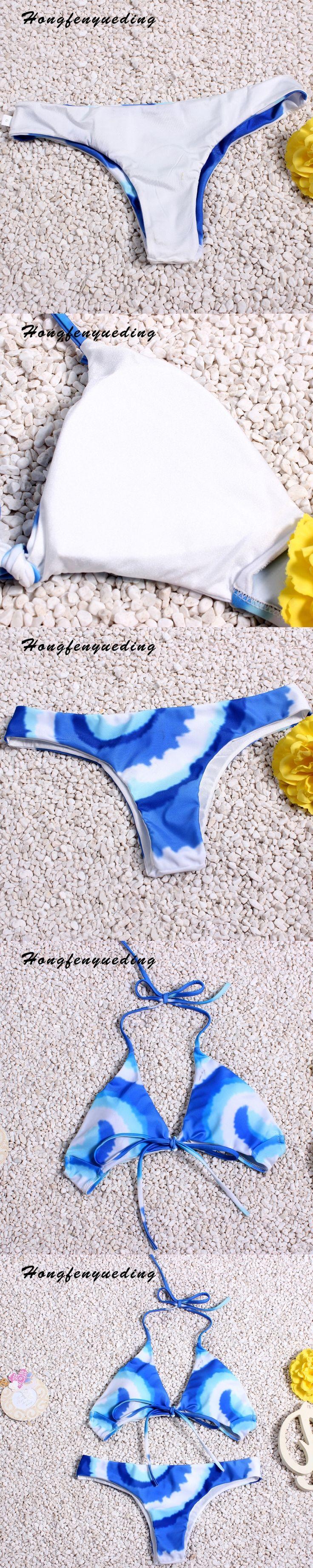Hongfenyueding Swimsuit Brazilian Bikini 2017 Women's swimming suit Swimwear Women Bandeau Bather Beachwear Maillot De Bain
