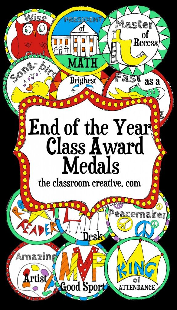 Medals, Medals! Need a new and refreshing take on awards and certificates? Check out these fun end of the year medals! They will be a hit in your classroom!
