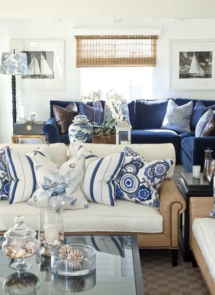 I Love This Coastal Inspired Room NAVY Accents