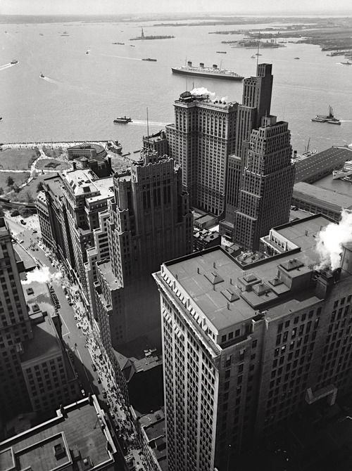 Battery Park New York (1938) | Photographer: Berenice Abbott It's not everyday you get to see what your apartment building looked like in 1938!!!