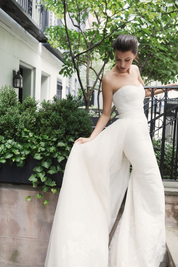 Dress perfection from Carolina Herrera: http://www.stylemepretty.com/2015/08/10/exclusive-behind-the-scenes-look-at-carolina-herreras-gorgeous-spring-2016-bridal-collection/