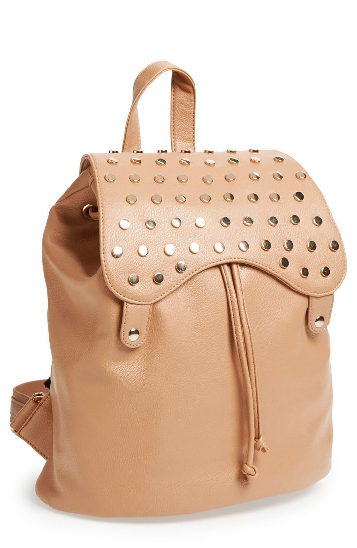 Faux Leather Backpack Purse