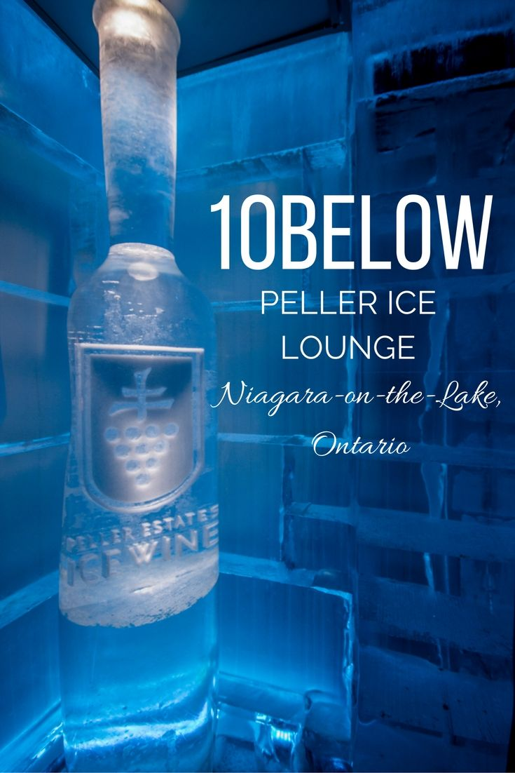The 10Below Ice Lounge at Peller Estates winery in Niagara-on-the-Lake, Ontario, Canada.