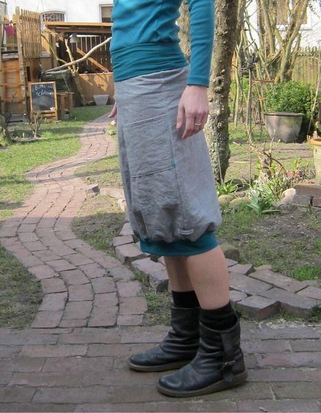 Ballonrock aus leichtem Jeans von froschpyjama - buntes für groß & klein auf DaWanda.com