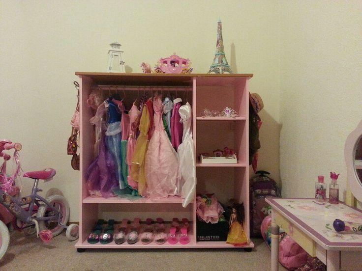 princess dress up closet from old tv stand for my kids pinterest dress up tvs and old tv. Black Bedroom Furniture Sets. Home Design Ideas
