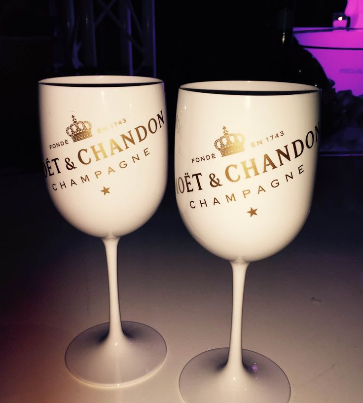 His & Her's Moet & Chandon Cups. They would be wasted in my house. No alcohol for over 2 years and going strong.