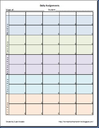 747 best 2015 ~ 2016 Homeschool Schedule images on Pinterest - assignment sheet template