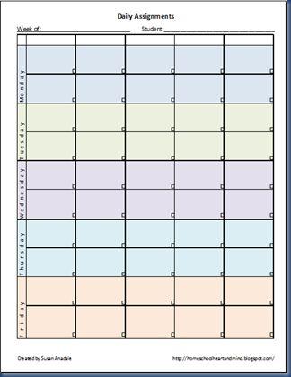 class assignment template
