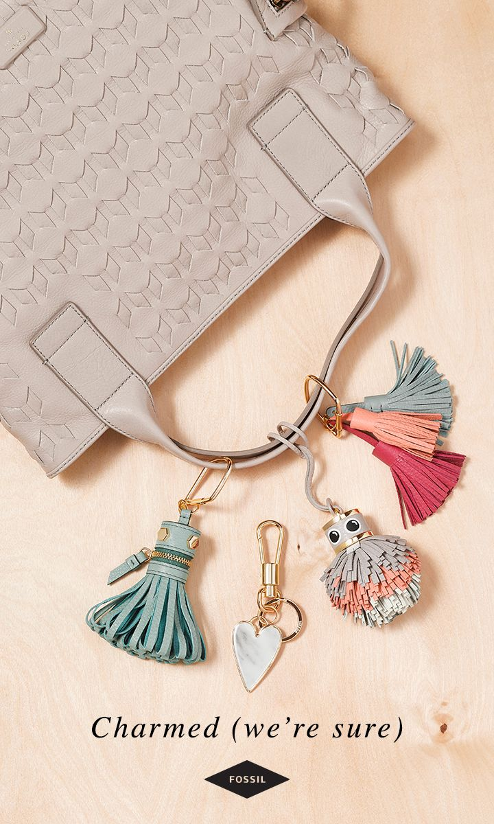 Looking for a Valentine's Day gift that will charm her the most? A Fossil handbag charm. See more colorful embellishments here.