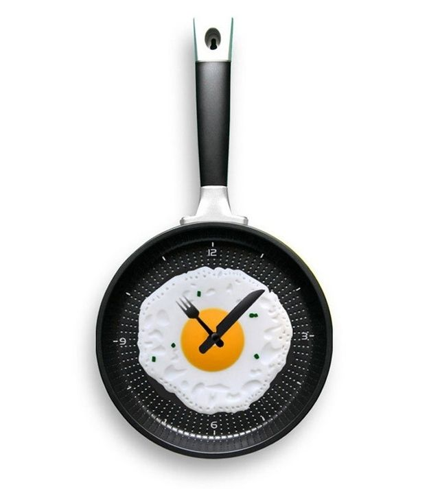 12. Fried Egg Wall Clock, $26 | 35 Clocks That Look Amazingly Not Like Clocks