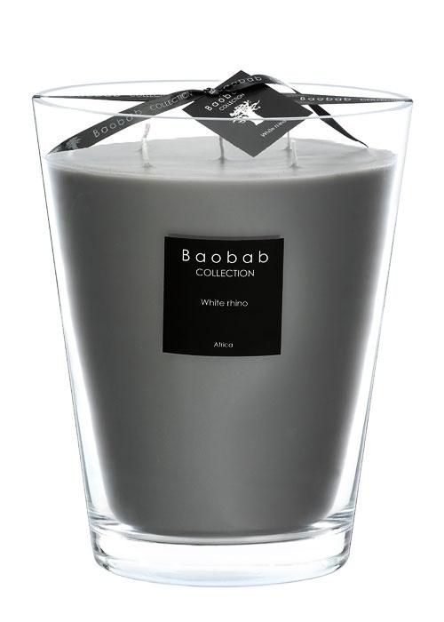 Baobab Bougie White Rhino
