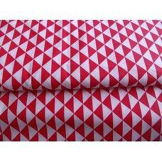 100% BAVLNA - trojúhelníky červené