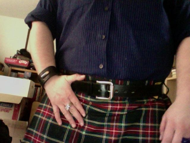 Black Stewart, with the new garrison belt as well.Black Stewart, Garrison Belts