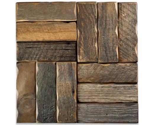 ceramic tile - looks like reclaimed wood