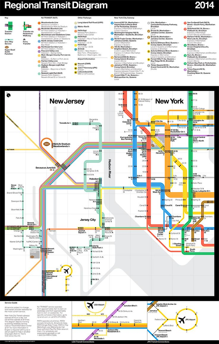Best Transit Maps Images On Pinterest - Nyc map airports