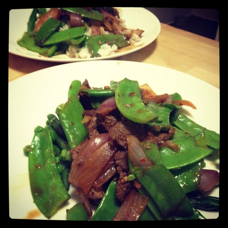 Michelle Bridges 12WBT beef stirfry - yummy!