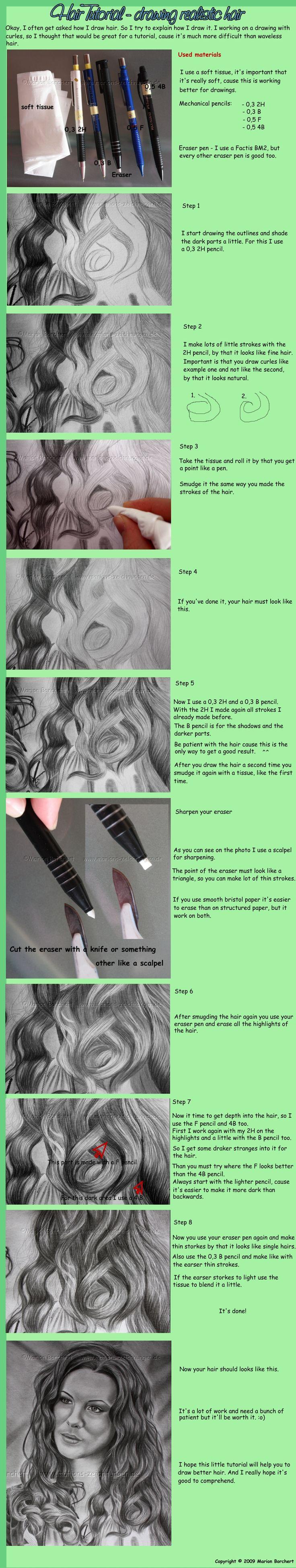 Drawing realistic hair.