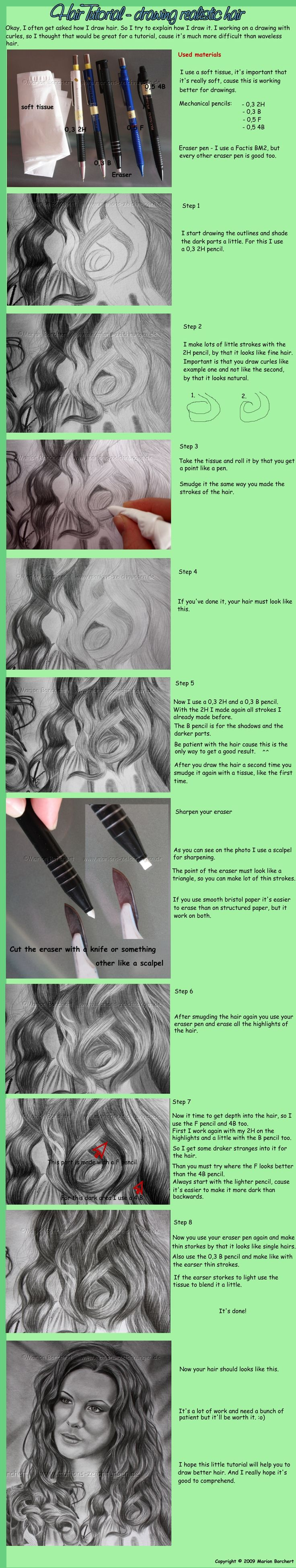 how to draw Hair Tutorial by =WitchiArt on deviantART