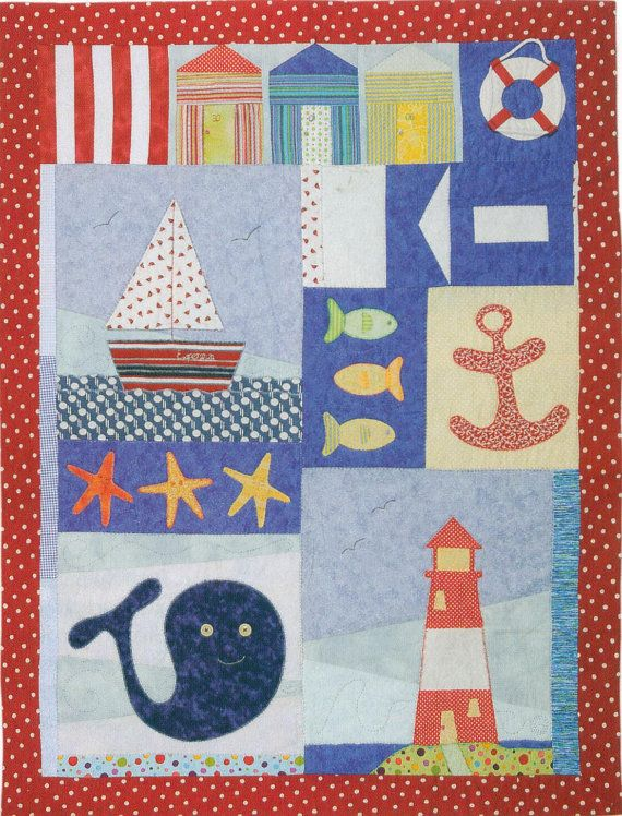 Nautical quilt / Nautical patchwork and applique by MelonyPatch