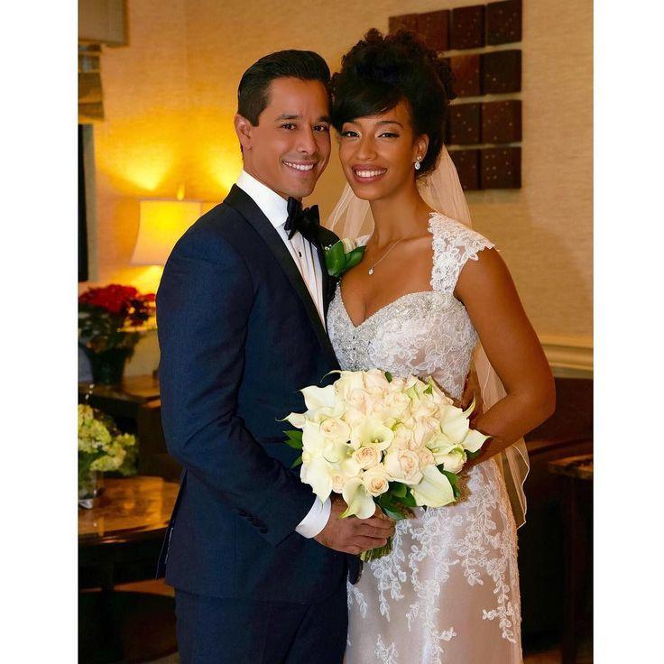 Amazingly gorgeous interracial couple on their wedding day #love #wmbw #bwwm #swirl